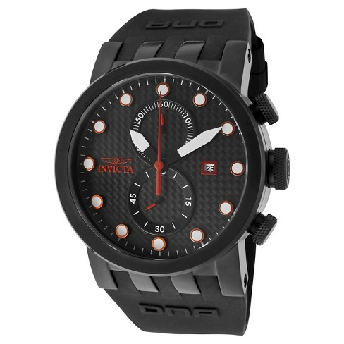 Men's Invicta 10428 DNA Quartz Chronograph Black Dial Strap Watch - Black - image 1 of 1