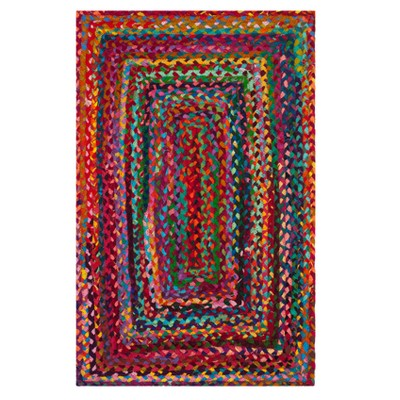 Red Solid Woven Accent Rug 2'X3' - Safavieh