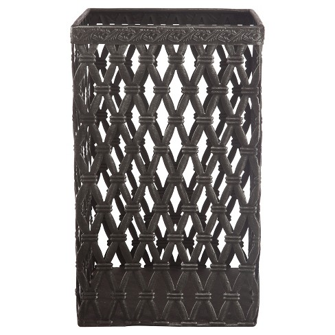 "A&B Home Woven Metal Basket - Black (10"") - image 1 of 2"