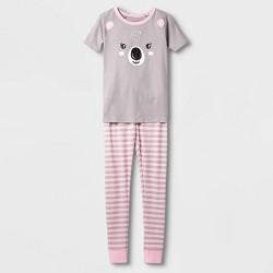 Girls' Tight Fit Pajama Set - Cat & Jack™ Pink