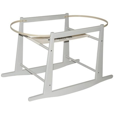 Jolly Jumper Rocking Wooden Moses Basket Stand, Fits Most Moses Baskets and Cots, Grey