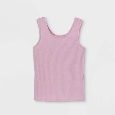Girls' Lace Trim Tank Top - art class™