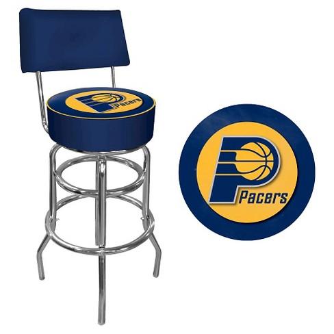 NBA® Padded Swivel Bar Stool w/Back - image 1 of 1