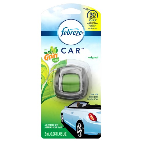 Febreze Car Air Freshener with Gain Original - 1ct 0.06oz - image 1 of 7