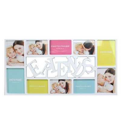 """Northlight 28.75"""" White """"Friends"""" Collage Photo Picture Frame Wall Decoration"""