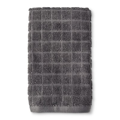 Grid Texture Hand Towel Dark Gray - Room Essentials™