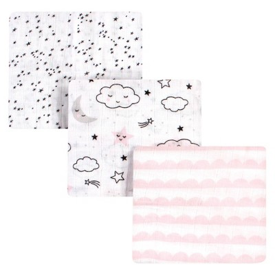 Hudson Baby Unisex Baby Cotton Muslin Swaddle Blanket - Dreamer One Size
