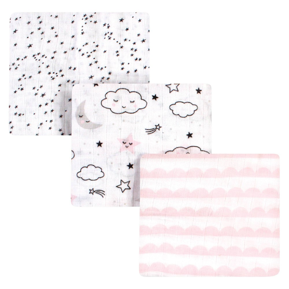 Hudson Baby Unisex Baby Cotton Muslin Swaddle Blanket Dreamer One Size