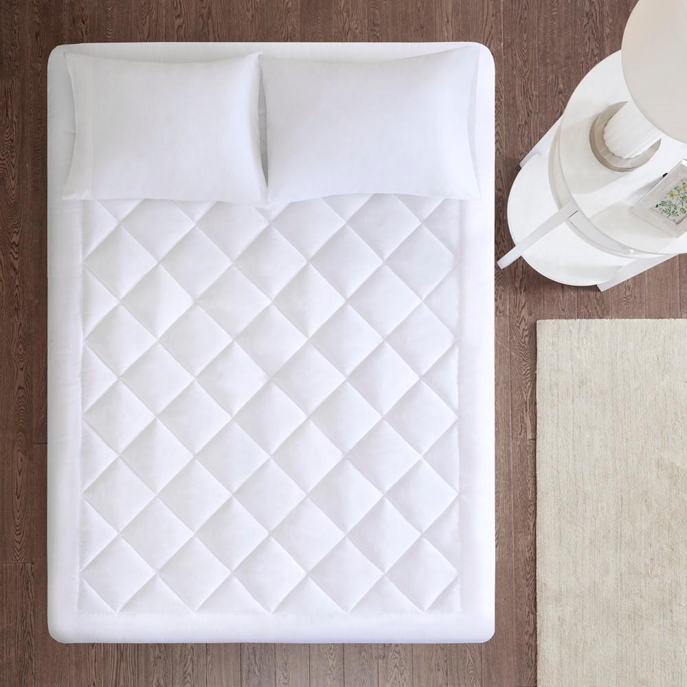 Harmony Waterproof Mattress Protector Pad with 3M Scotchgard Moisture Treatment (Twin) White