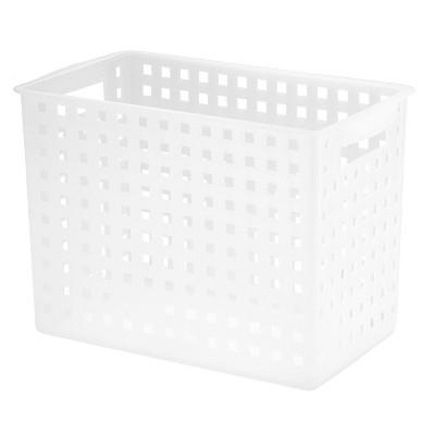 InterDesign Plastic Modular Storage Basket - Textured Frost (Large)