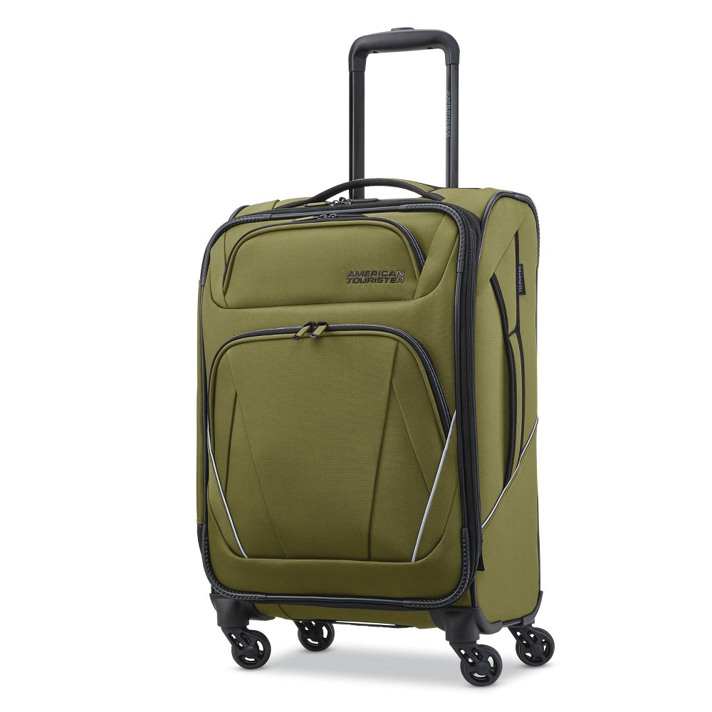 "Image of ""American Tourister 20"""" Superset Spinner Suitcase - Olive, Size: Large, Green"""