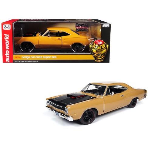 "1969/5 Dodge Coronet ""Super Bee"" Butterscotch Orange ""Class of 1969"" Special Ltd Ed 300 pcs 1/18 Diecast Car Autoworld - image 1 of 4"