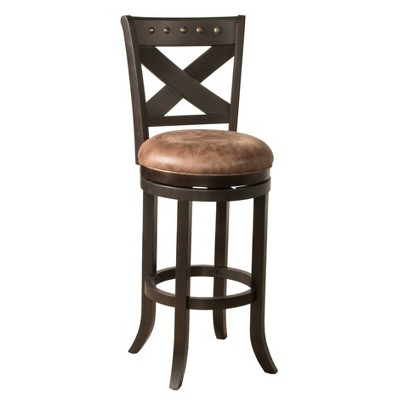 Brantley Swivel Height Barstool Deep Bronze/Brown - Hillsdale Furniture