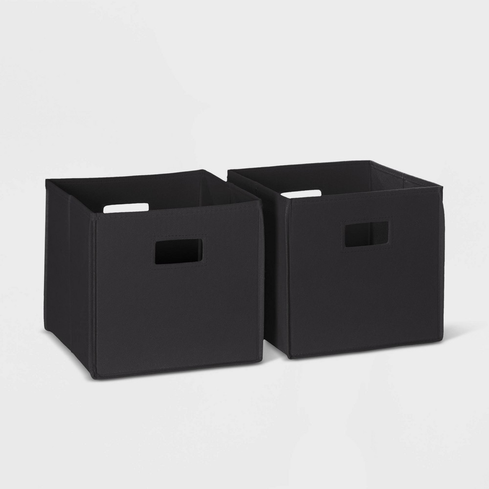 Image of 2pc Folding Storage Bin Set Black - RiverRidge