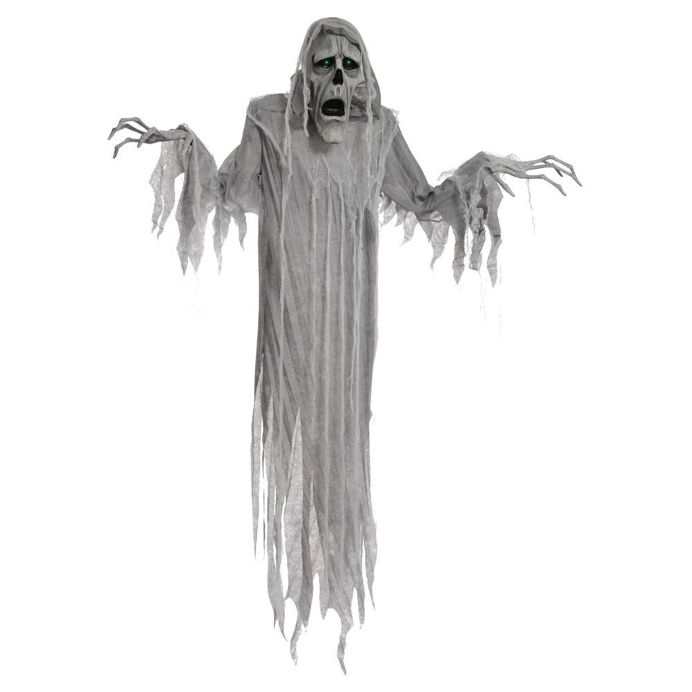 Image of 6ft Halloween Animated Hanging Phantom, Gray