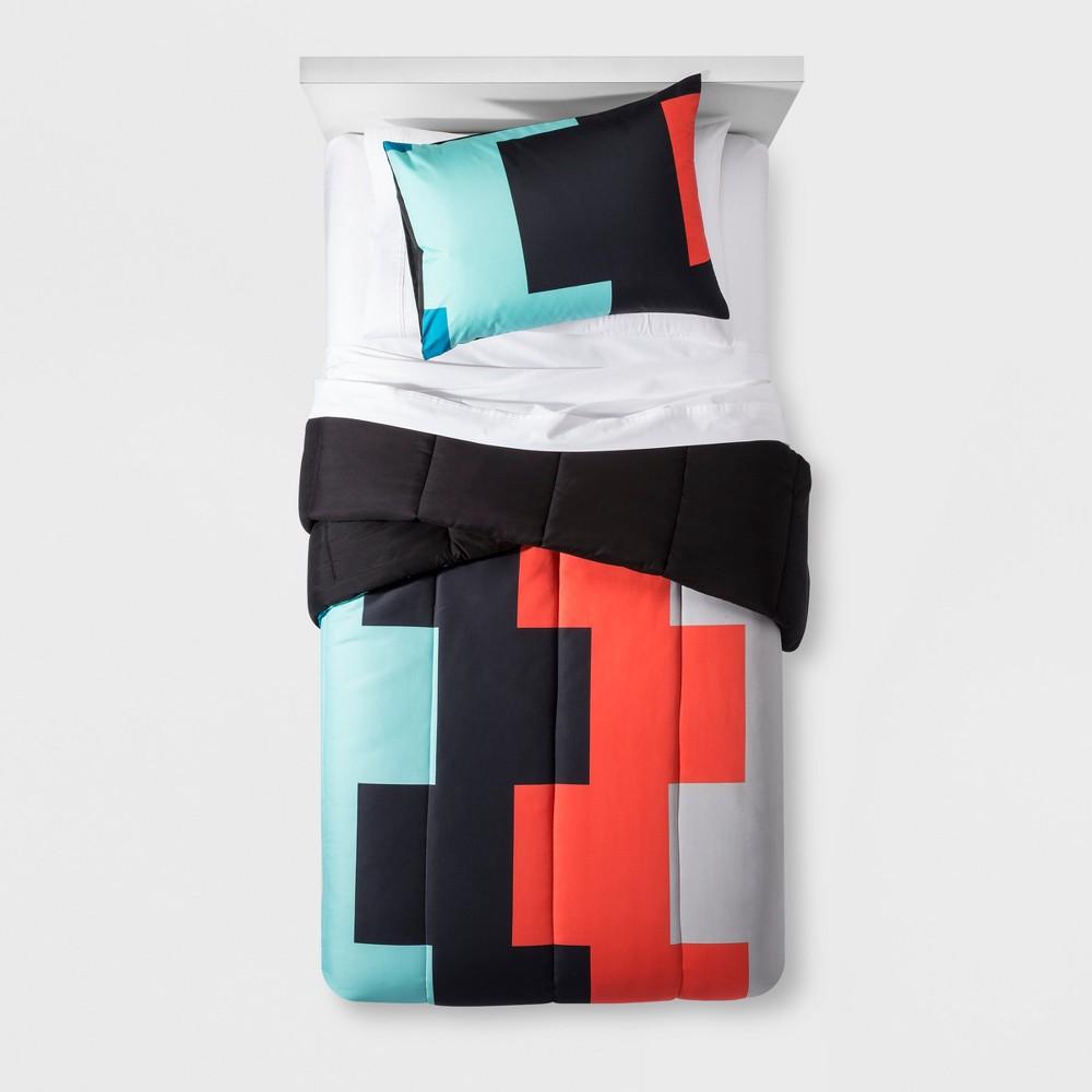 Digital Block Comforter Set (Twin) - Pillowfort, Blue