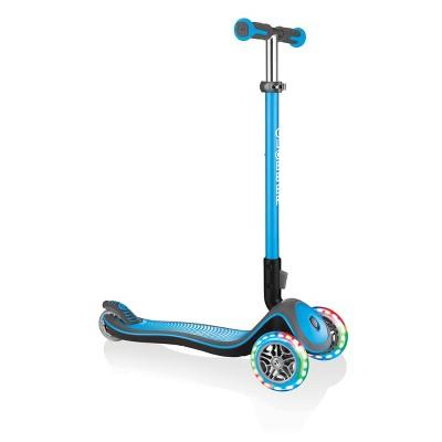 Globber Elite Deluxe Lights Scooter - Sky Blue