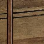Dark Concrete Top/Rustic Oak