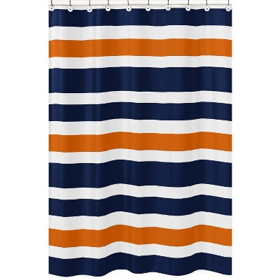 Striped Shower Curtain Navy - Sweet Jojo Designs
