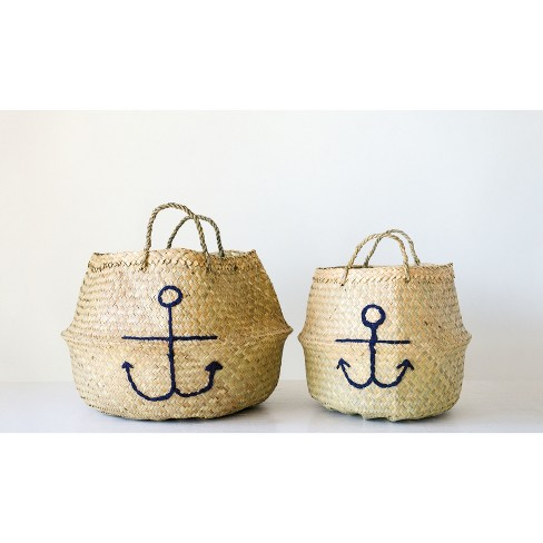 Decorative Basket Anchor Set of 2 - Beige - image 1 of 2