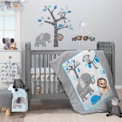 Bedtime Originals Nursery Crib Bedding Set - Jungle Fun 3pc