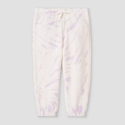 Grayson Mini Toddler Girls' Tie-Dye Fleece Jogger Pants - Purple