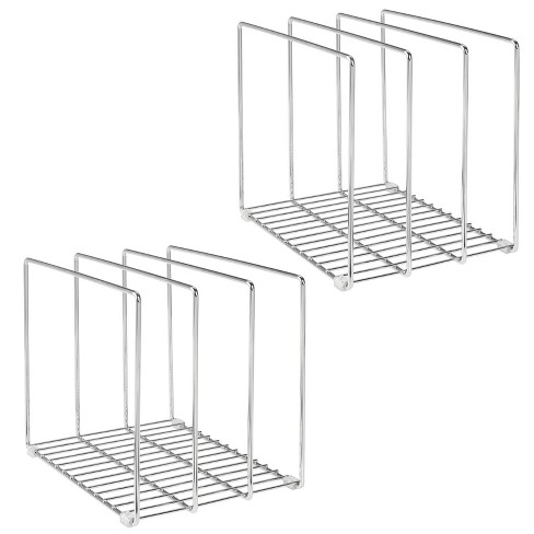 mDesign Metal Wire Pot/Pan Organizer Rack for Kitchen, 3 Slots, 2 Pack - image 1 of 4