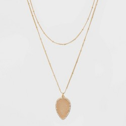 SUGARFIX by BaubleBar Teardrop Druzy Pendant Necklace