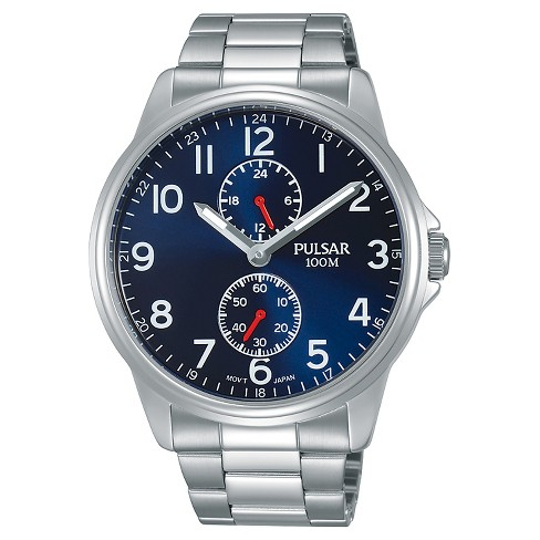 Men's Pulsar - Silver Tone with Blue Dial - P3A001X - image 1 of 1