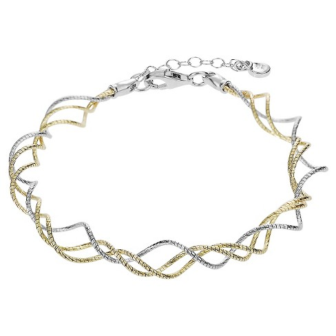 Women's Journee Collection Multi-strand Bracelet in Sterling Silver - Two-tone - image 1 of 2