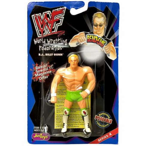 WWE Wrestling WWF Bend-Ems Series 10 Billy Gunn Rubber Figure - image 1 of 1