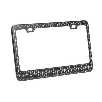 Swarovski Crystal Enhanced License Plate Frame - Black