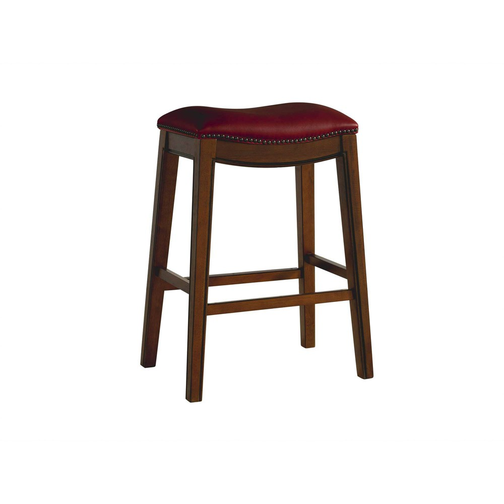 Image of 1pc Bowen Backless Bar Stool Red - Picket House Furnishings