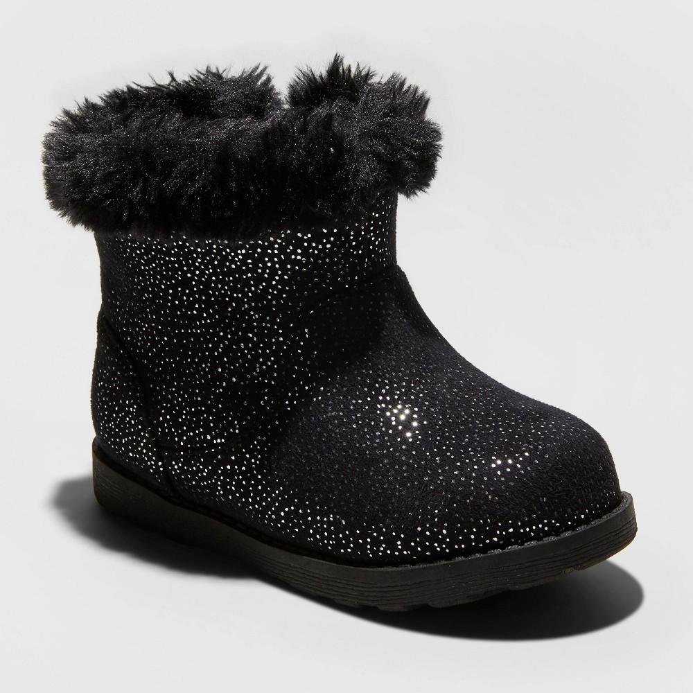 Image of Toddler Girls' Oriole Shearling Boots - Cat & Jack Black 10, Toddler Girl's
