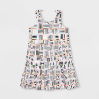 Pride Gender Inclusive Kids' Dress - White