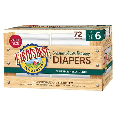 Earth's Best Tender Care Diapers Club Pack - Size 6 (72 ct)