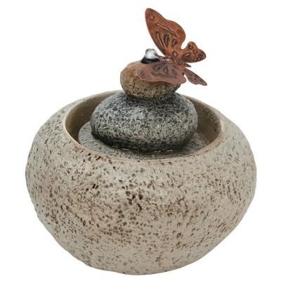 7.25  x 7.25  x 7.25  Rock Cairn Fountain Stone - Foreside Home & Garden