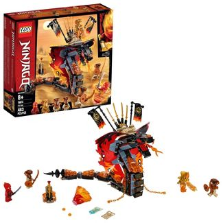 LEGO Ninjago Fire Fang 70674 Snake Action Toy Building Set with Ninja Minifigures 463pc