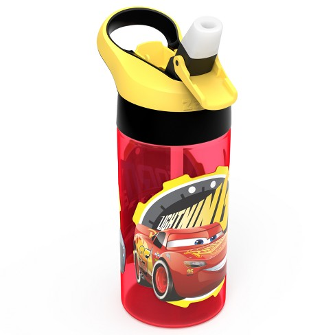 Cars 17.5oz 3 Plastic Water Bottle Red/Yellow - Zak Designs - image 1 of 3