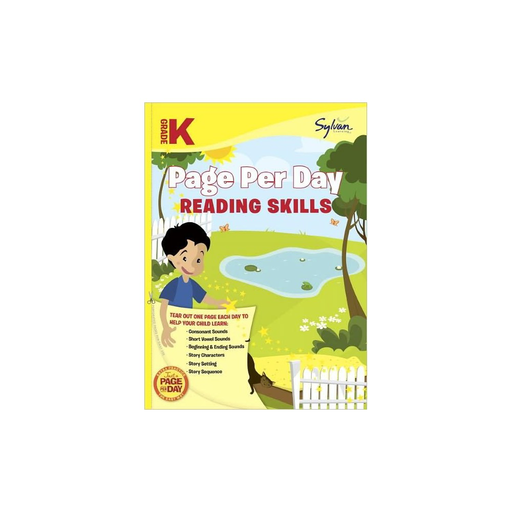 Kindergarten Page Per Day : Reading Skills (Workbook) (Paperback) (Sylvan Learning)