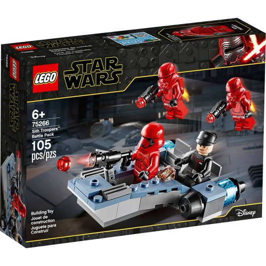 LEGO Star Wars Sith Troopers Battle Pack Stormtrooper Speeder Vehicle Building Kit 75266 image number null