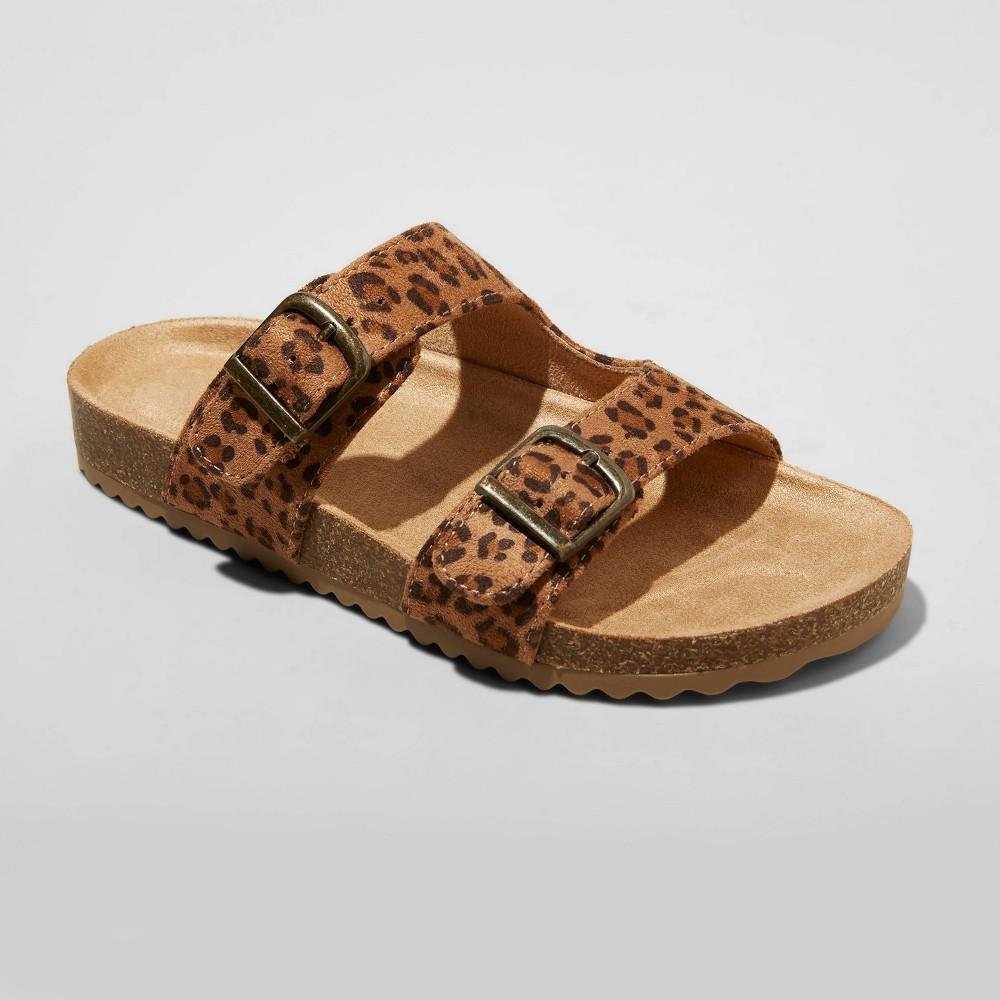 Kids 39 Drew Slip On Footbed Sandals Cat 38 Jack 8482 Tan 6