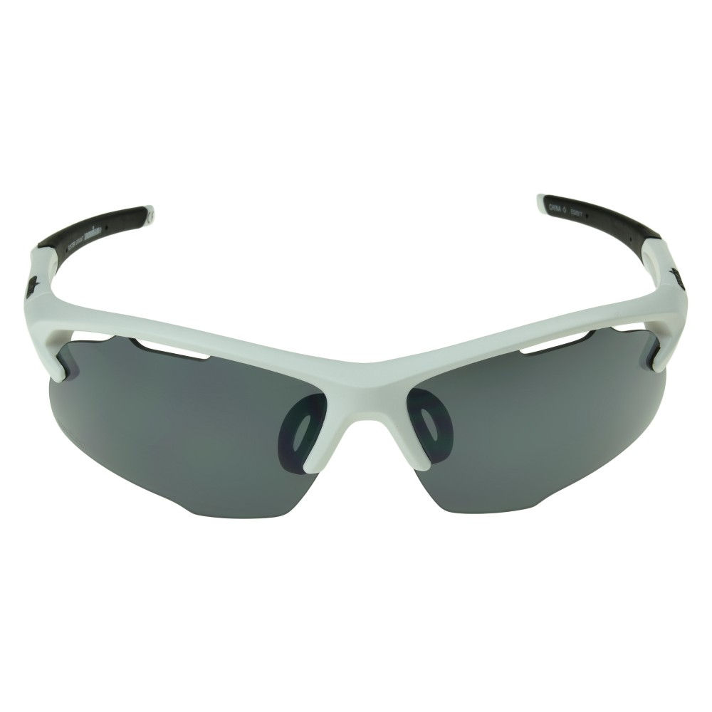 Image of Men's Ironman Ironflex Polarized Semi-Rimless Wrap Sunglasses - White, Size: Small