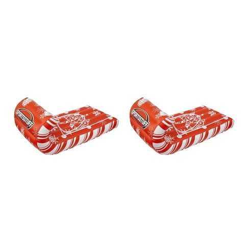 Sportsstuff Giant Inflatable Candy Cane Cruiser Snow Tube Raft Sled (2 Pack) - image 1 of 4