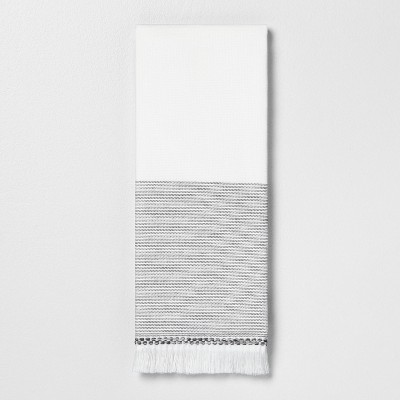 Hand Towel Microstripe Gray - Hearth & Hand™ with Magnolia