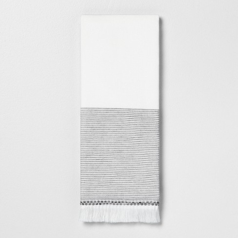 Microstripe Hand Towel Gray - Hearth & Hand™ with Magnolia - image 1 of 3