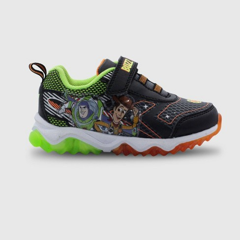 Toddler Boys' Toy Story Light-Up Sneakers - Black - image 1 of 4