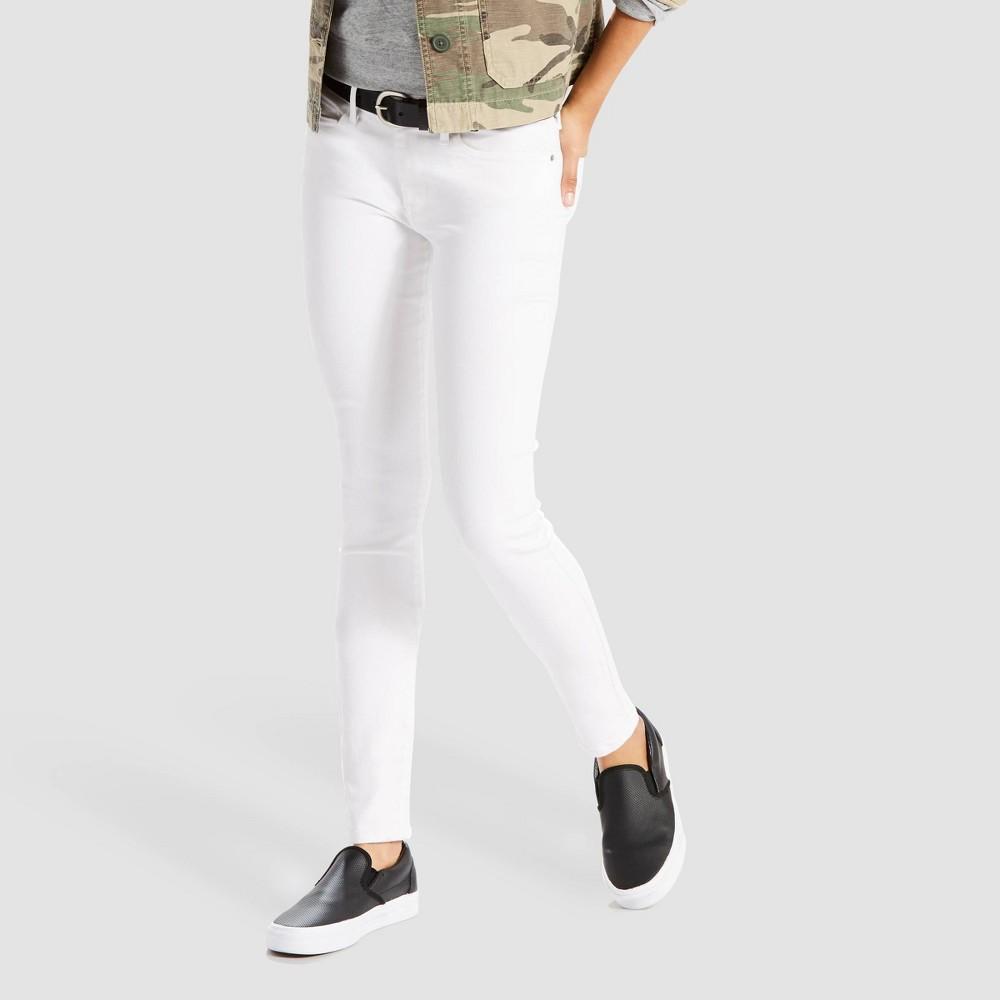 Levi 39 S 174 Women 39 S 711 8482 Mid Rise Skinny Jeans White 32