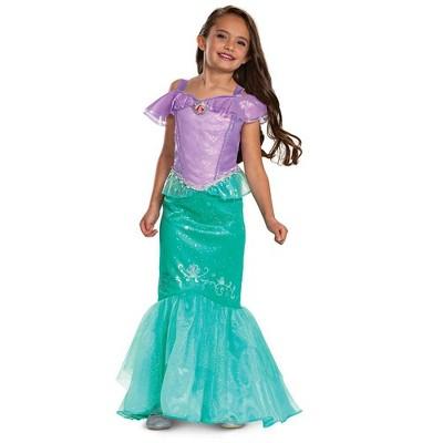 Kids' Deluxe Disney Princess Ariel Halloween Costume Dress