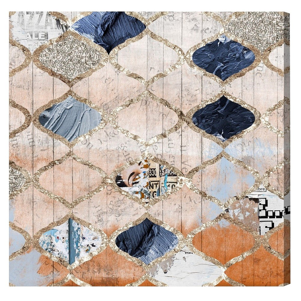 """Image of """"Oliver Gal Unframed Wall """"""""Modern Moroccan"""""""" Canvas Art (36x36), Multi-Colored"""""""